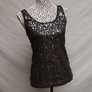 Gray glitter front old navy tank top